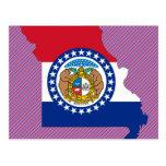 Mapa de la bandera de Missouri Postales