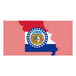 Mapa de la bandera de Missouri Tarjetas Personales Con Fotos