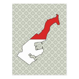 Mapa de la bandera de Mónaco del mismo tamaño Postales