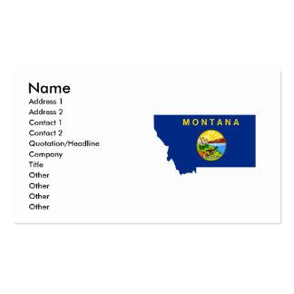 Mapa de la bandera de Montana Tarjetas Personales