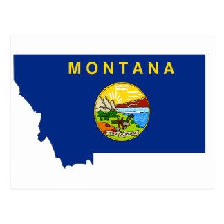 Mapa de la bandera de Montana Tarjetas Postales