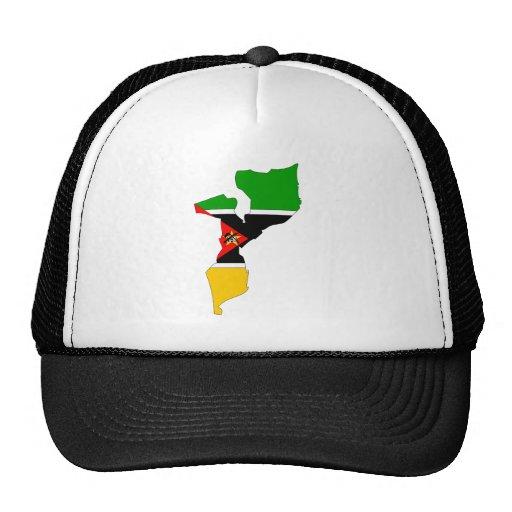 Mapa de la bandera de Mozambique del mismo tamaño Gorros