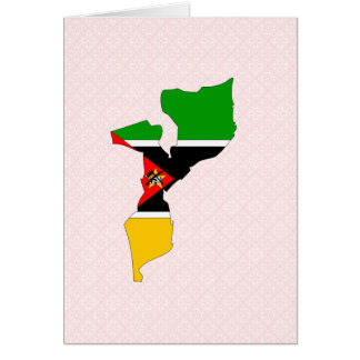 Mapa de la bandera de Mozambique del mismo tamaño Tarjetón