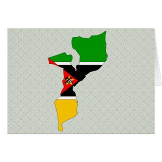 Mapa de la bandera de Mozambique del mismo tamaño Tarjeton