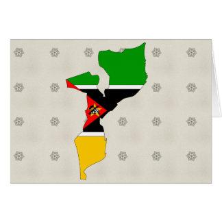 Mapa de la bandera de Mozambique del mismo tamaño Tarjeta
