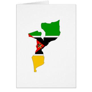 Mapa de la bandera de Mozambique Tarjeta De Felicitación