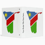 Mapa de la bandera de Namibia del mismo tamaño
