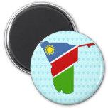 Mapa de la bandera de Namibia del mismo tamaño Imán De Frigorífico