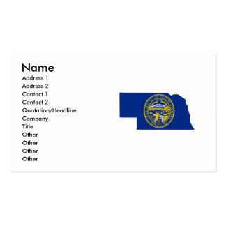 Mapa de la bandera de Nebraska Tarjetas De Visita