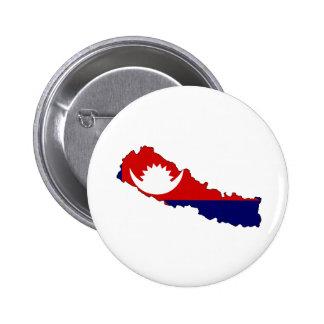 Mapa de la bandera de Nepal del mismo tamaño Pins