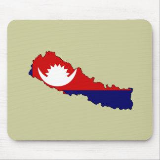 Mapa de la bandera de Nepal Mouse Pads