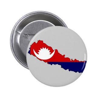Mapa de la bandera de Nepal Pin