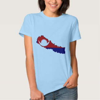 Mapa de la bandera de Nepal Remeras
