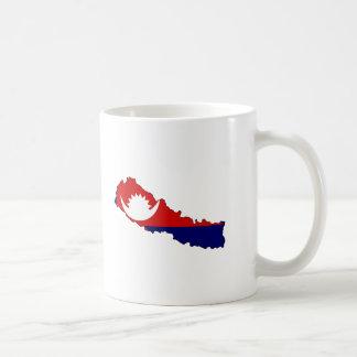 Mapa de la bandera de Nepal Taza
