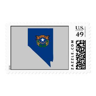 Mapa de la bandera de Nevada Franqueo