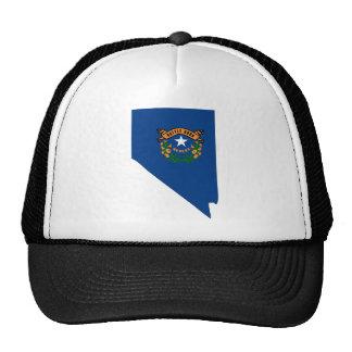 Mapa de la bandera de Nevada Gorras De Camionero