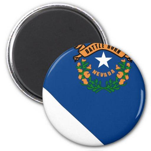 Mapa de la bandera de Nevada Imán Redondo 5 Cm
