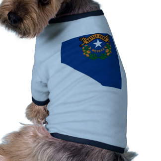 Mapa de la bandera de Nevada Camiseta De Mascota