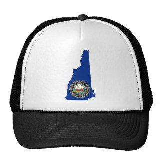 Mapa de la bandera de New Hampshire Gorras De Camionero