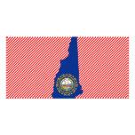 Mapa de la bandera de New Hampshire Tarjetas Personales Con Fotos