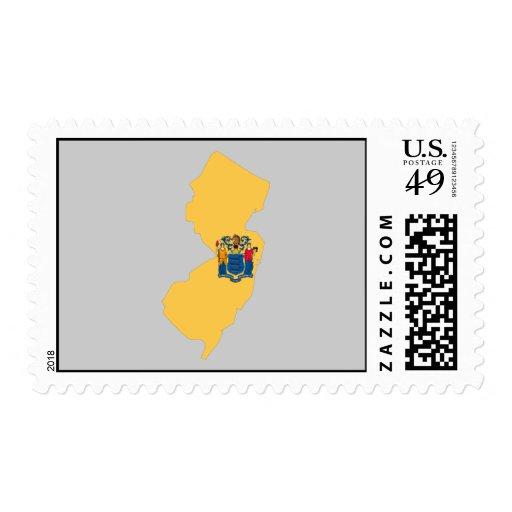 Mapa de la bandera de New Jersey Envio