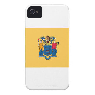 MAPA DE LA BANDERA DE NEW JERSEY Case-Mate iPhone 4 CARCASA