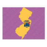Mapa de la bandera de New Jersey Postales