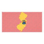 Mapa de la bandera de New Jersey Tarjetas Personales Con Fotos