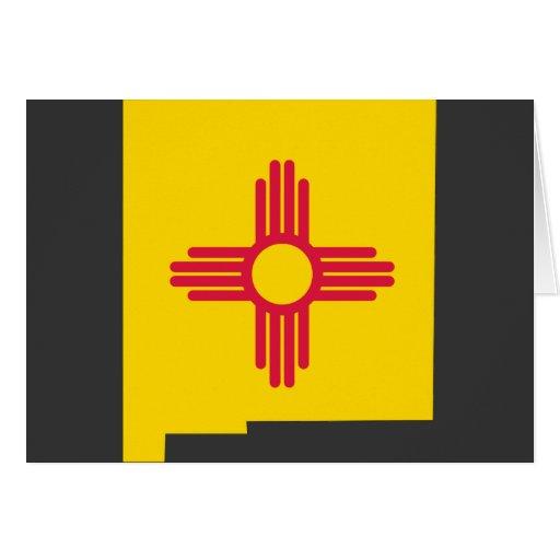 Mapa de la bandera de New México Felicitaciones