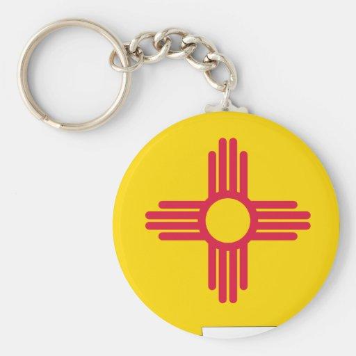 Mapa de la bandera de New México Llaveros