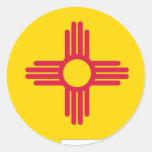 Mapa de la bandera de New México Pegatina