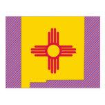 Mapa de la bandera de New México Postal