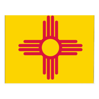 Mapa de la bandera de New México Tarjeta Postal