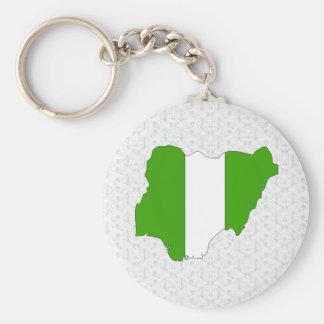 Mapa de la bandera de Nigeria del mismo tamaño Llaveros Personalizados
