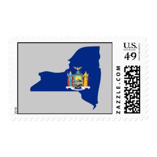 Mapa de la bandera de Nueva York Franqueo
