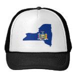 Mapa de la bandera de Nueva York Gorras De Camionero