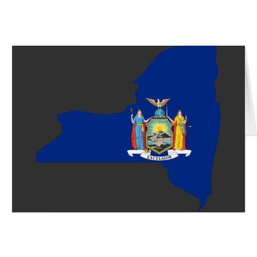 Mapa de la bandera de Nueva York Tarjeta