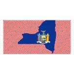 Mapa de la bandera de Nueva York Tarjeta Fotográfica Personalizada