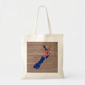 Mapa de la bandera de Nueva Zelanda del equipo en Bolsa Tela Barata