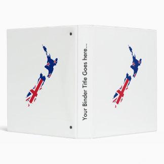 Mapa de la bandera de Nueva Zelanda del mismo tama