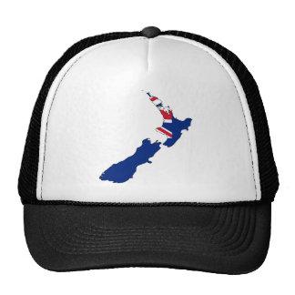 Mapa de la bandera de Nueva Zelanda Gorros Bordados