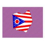 Mapa de la bandera de Ohio Postal