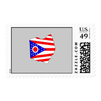 Mapa de la bandera de Ohio Sellos