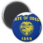 Mapa de la bandera de Oregon Iman Para Frigorífico