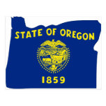 Mapa de la bandera de Oregon Postal