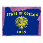 Mapa de la bandera de Oregon Postales