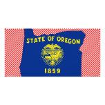 Mapa de la bandera de Oregon Tarjetas Personales Con Fotos