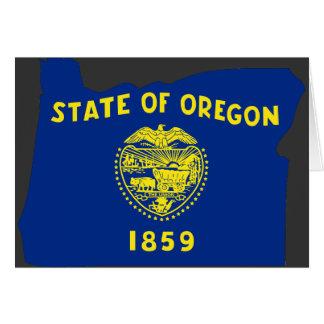 Mapa de la bandera de Oregon Tarjeta De Felicitación