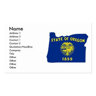 Mapa de la bandera de Oregon Tarjetas De Visita