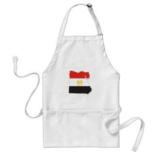 mapa de la bandera de país de Egipto Delantal